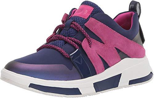 FitFlop Women's Carita Sport Low TOP Sneaker-Statement, Aurora Blue, 6.5 M US