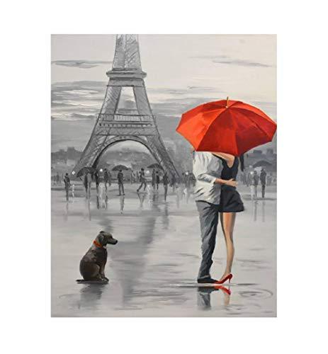Wzxzf Pintar por números Plaza Paris La Pintura al óleo Digital se Puede Utilizar para la Imagen del Arte de la Pared decoración del hogar Obras de Arte 40 x 50 cm(sin Marco)