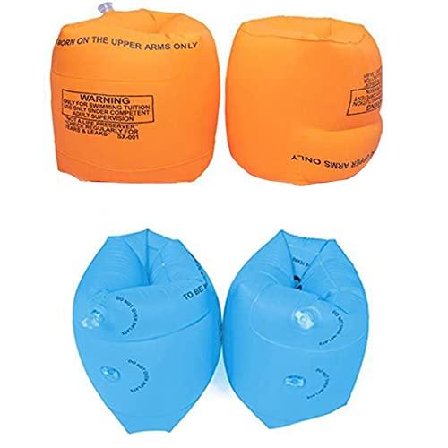 BRAVOSOLEIL Swim Armband Opblaasbare Zwemmen Arm Band Kids Pool Float Armbanden Voor Nazorg Zwemmen Training Oranje 4 Stuks