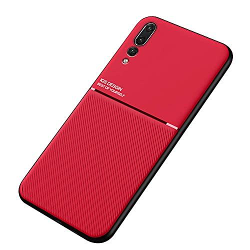 Kepuch Mowen Case Capas Placa de Metal Embutida para Huawei P20 Pro - Vermelho
