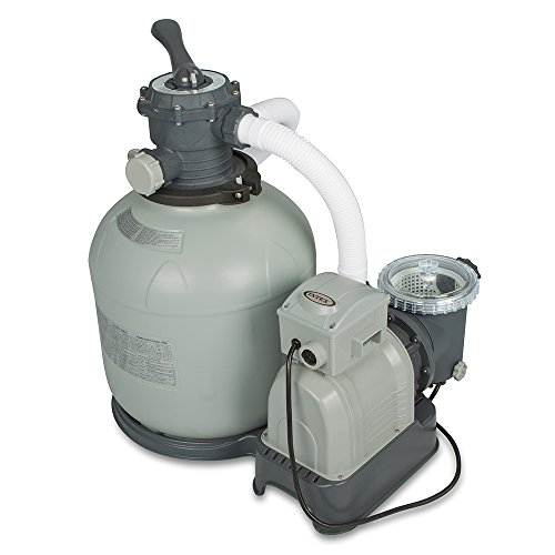 Intex Krystal Clear Sand Filter Pump for Above Ground Pool – 16-in. – 110-120V with GFCI