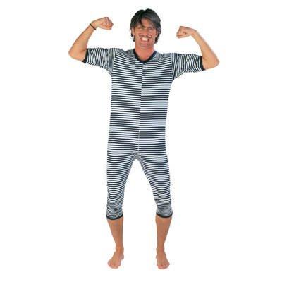 Party-Discount Ringel-Badeanzug, blau-weiß, XXL
