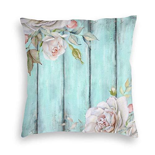 MayBlosom - Federa per cuscino in velluto shabby country chic, per divano, sedia, camera da letto, auto, 45 x 45 cm
