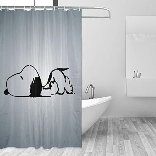 HAOHAODE Snoopy Duschvorhang, wasserdicht, lustige Badezimmerdekoration, 152 x 183 cm, 12 Stück