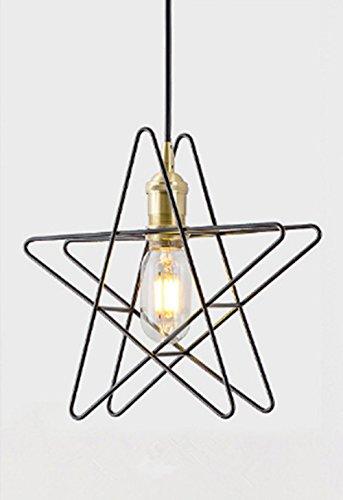 Nordic Moderne LED Pendentif Lumière En Laiton Étoile/Anneau/Pentagramme Pendentif Lampe E27 Lumière Ombre Lit Éclairage Chambre (Ampoule Non Inclus)