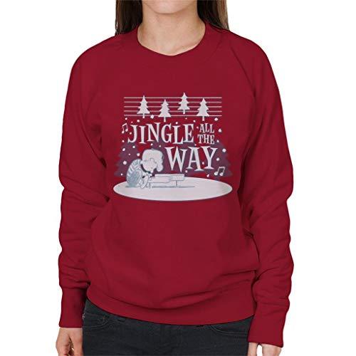 Peanuts Schroeder Playing Jingle Bells On Piano Women's Sweatshirt