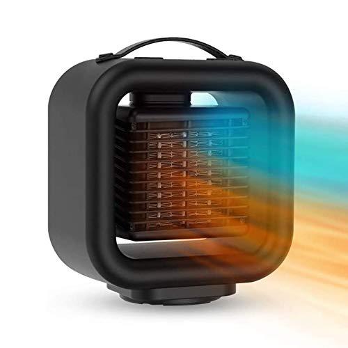 FJLOVE Calentador De Ventilador De Cerámica Portátil,Calefactor Baño Bajo Consumo con 3 Configuraciones De Calor, Ahorro De Energía,Protección contra Sobrecalentamiento