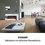 Klarstein Studio Light & Fire 2 Kamin - Elektrokamin, elektrischer Kamin mit Flammeneffekt, E-Kamin, 1000/2000 Watt, Timer-Funktion, Thermostat, MDF-Gehäuse, inkl. Fernbedienung, weiß - 4