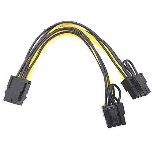 4 Pack 6Pin PCI Express zu 2 X PCIe 8 (6 + 2), 6-poliges PCIe-2 x PCIe 8 (6 + 2) Pin-Motherboard-Grafik-Grafikkarte PCI-e Splitter Hub-Stromverlängerungskabel