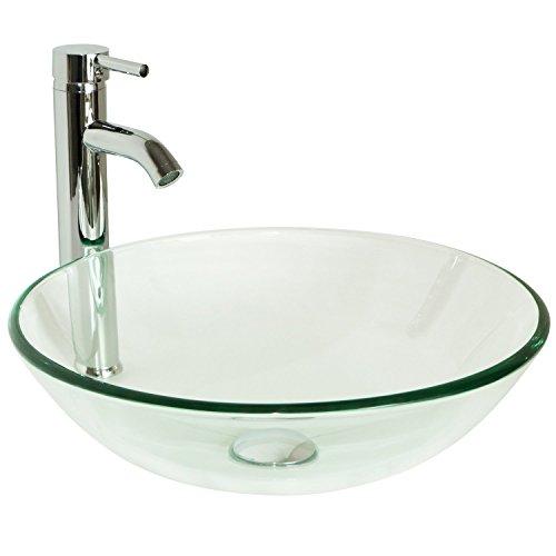 QIERAO Glass Vessel Bathroom Vanity Sink (Vaniy)