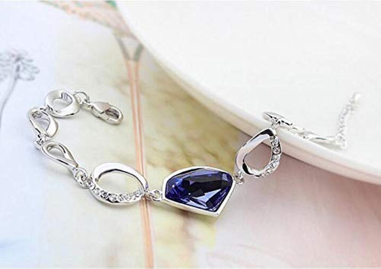 IANXI Home Leng Elegant Pretty Bracelet Extravagance Extravagance Luxury Elegant Crystal Bracelet European and American Style Simple Plating Ornaments(Pale Pinkish Purple)