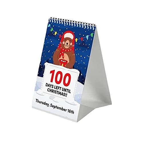 100 Day Christmas Countdown Calendar 2021 – Christmas Advent Calendar Count Down Gift for Kids, 2021-2022 Advent Special Days Calendar for Kids and Families Friends