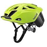 bollé - Casco de Ciclismo estándar One Road, Unisex, Color Negro y Amarillo Fluorescente, tamaño 54-58 cm