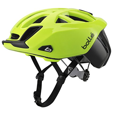 Bollé The One Road Standard, Casco da Bicicletta, Nero/Neon Yellow, 54/58 cm