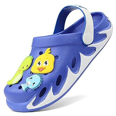 Kids Garden Clogs Outdoor Beach Water Cute Sandals with Cartoon Charms for Boys Girls Toddler
