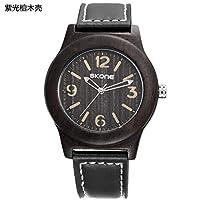 ZHANGZZ 美しいSKONE時計 純粋な木時計アフリカのサンダルクォーツ時計 (Color : 1)