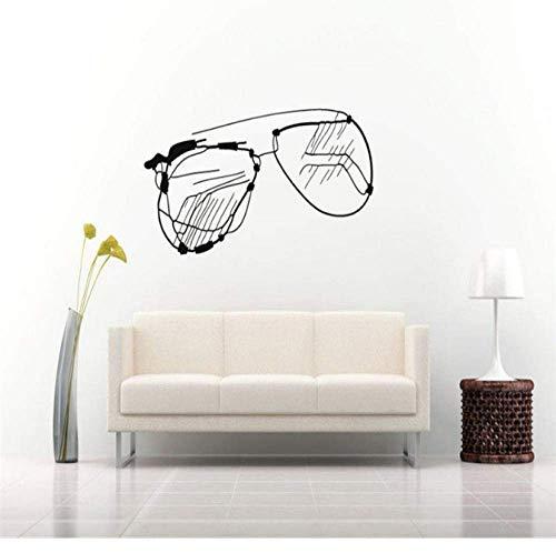 Adhesivos De Pared De Vinilo Extraíbles, Pegatinas De Pared Para Habitación, Gafas, Gafas De Sol, Decoración Del Hogar, Sala De Estar, Dormitorio, Póster Mural 27X57Cm