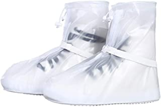 Anti-Slip White Shoes Cover Unisex Waterproof Protector Shoes Boot Cover Rain Shoe Covers High-Top Rainy Day Outdoor Shoes...