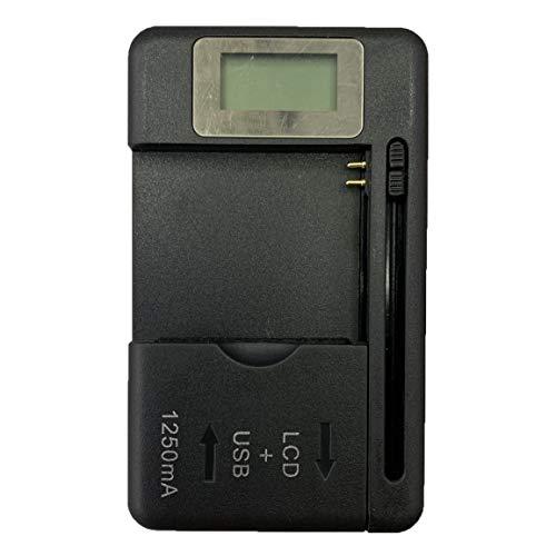 Garciadia Universal Mobile Ladegerät LCD-Anzeige-Bildschirm für Handys mit USB-Anschluss Ladegerät für die meisten Lithium-Ionen-Batterien (Farbe: Schwarz)