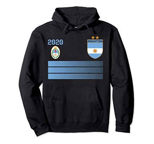 Maglia da calcio Argentina 2020 Argentina Soccer Felpa con Cappuccio
