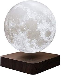 Lámpara de mesa magnética con plumas, luna de nogal, grano de madera, creativa, impresión 3D, luz de ambiente