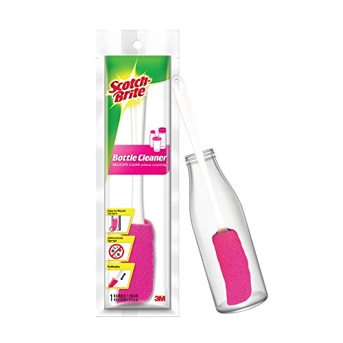 Scotch-Brite Plastic Bottle Cleaner Brush (Pink and White)
