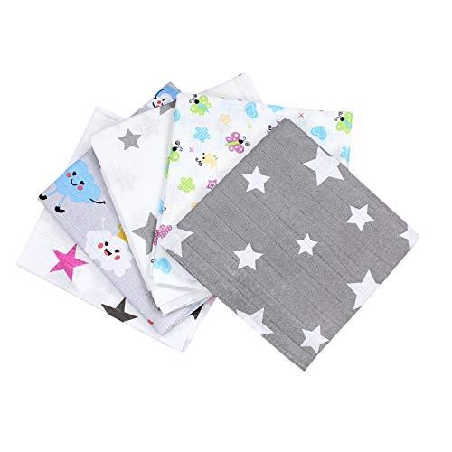 TupTam Muselinas para Bebé 70x80, 5 o 10 Piezas, Niña, 5er Pack