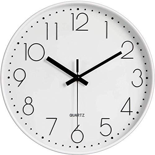 LKOER Reloj de Pared Moderno de 12 Pulgadas, batería de Cuarzo silenciosa...