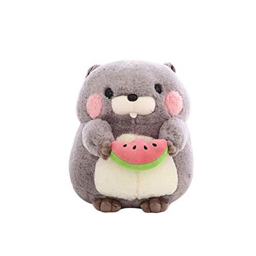 NUOBESTY Lindo muñeco de Peluche Marmot Animal Doll Peluche de Peluche Muñeca Suave para bebé Niños Niñas Mujeres Regalo de cumpleaños (Gris) 25cm