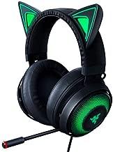 Razer Kraken Kitty RGB USB Gaming Headset: THX 7.1 Spatial Surround Sound - Chroma RGB Lighting - Retractable Active Noise Cancelling Mic - Lightweight Aluminum Frame - For PC - Classic Black