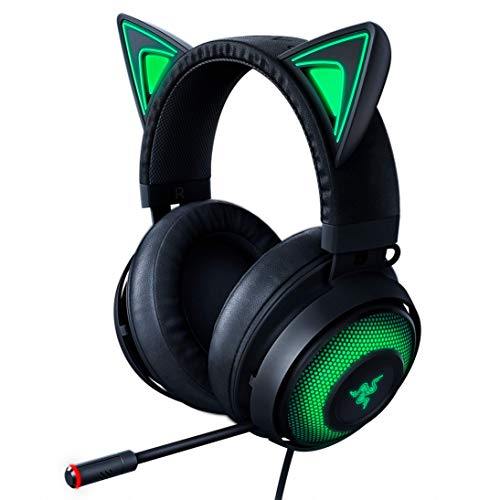 Razer Kraken Kitty RGB USB Gaming Headset: THX 7.1 Spatial Surround Sound - Chroma RGB Lighting - Retractable Active Noise Cancelling Mic - Lightweight Aluminum Frame - For PC - Classic Black