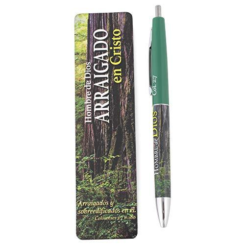 Christian Tools Affirmation Spanish-Gift Set-Man of God Pen & Bookmark (Col. 2:6-7 LBLA) (Dec)