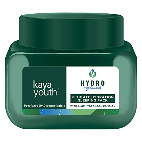 Kaya Youth Hydro Replenish Ultimate Hydration Night Cream, Overnight Leave On Sleeping Pack, Enriched with Pure Aloe Vera Gel for 24 hours Hydrated Skin, Overnight Hydration for a Morning Glow, 45 gm