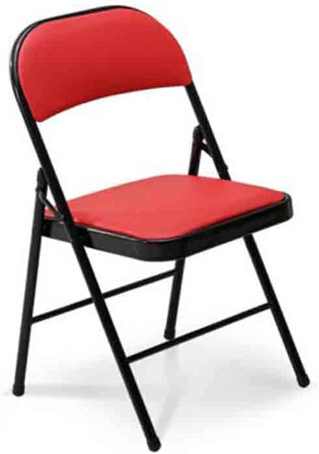 GSHWJS Backrest Computer Chair Folding Office Chair Imitation Leather Thickening Meal Seat Chair (color   6)