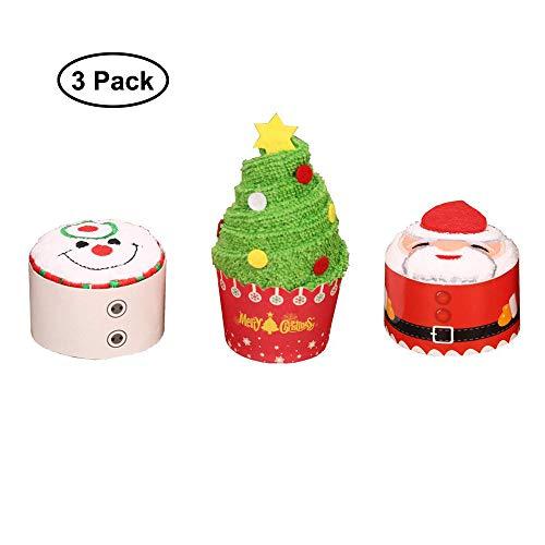 Fellibay - Juego de 3 toallas de mano de Navidad para lavabo, cocina, baño, 3 unidades