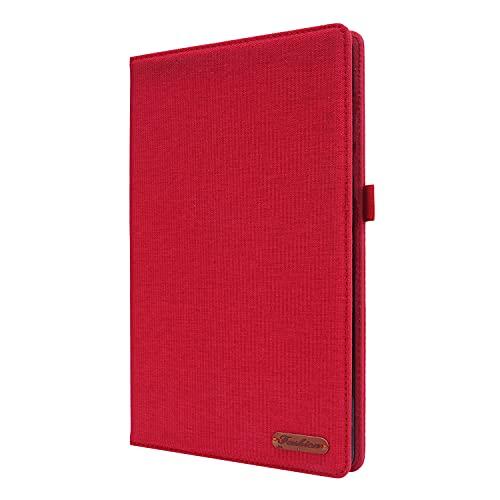 Lobwerk Funda para Lenovo Tab M10 2nd 2020 TB-X306F TB-306X 10.1 con función atril y función de encendido y apagado automático, color rojo