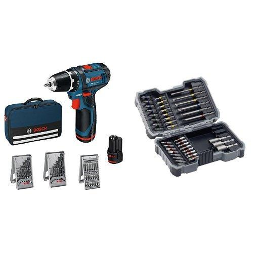 Bosch Professional GSR 12V-15 - Atornillador a batería (2 baterías x 2,0...