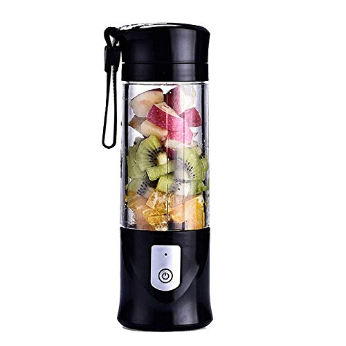 Lopbinte Portable Blender, Cordless Personal Blender Juicer Cup, Single Serve Fruit Mixer, Small Travel Blender for Shakes and Smoothies, with 4000MAh Batter