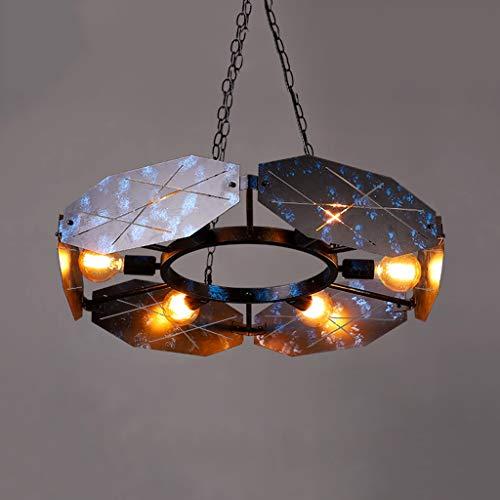 Tablelamp-SZQ Fitness hanglamp, 6 teste Soft Light hanglamp, industriële decoratie, hanglamp met 100 cm metalen ketting