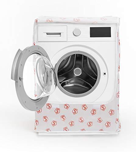 Smart-T-Haus 7011001 Funda Protectora Lavadora-Secadora Carga Frontal Impermeable de Peva Con Velcro, C+, 90 x 60 x 60 cms, Blanca