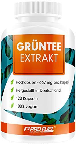 Grüner Tee Extrakt 120 Kapseln - 1333 mg pro Tag, davon 600 mg EGCG - ergänzt mit Schwarzer Pfeffer Extrakt - Hohe Bioverfügbarkeit - 98% bioaktive Polyphenole - 100% vegan - Made in Germany