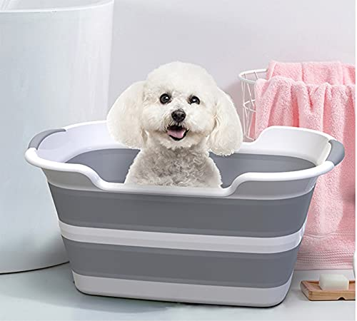 Faus Koco Pet Bathtub, Dog Or Cat, Foldable Bathtub Tub, Laundry Bucket, Pet Supplies, 60 * 40CM Portable Bathtub