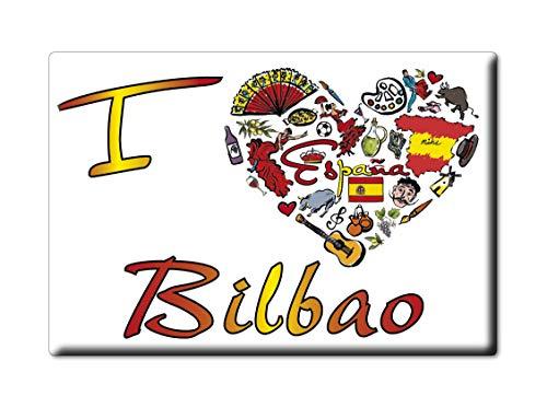 Enjoymagnets Bilbao Souvenir IMANES DE Nevera Reino Unido PAÍS Vasco IMAN Fridge Magnet Corazon I Love (VAR. Symbol)