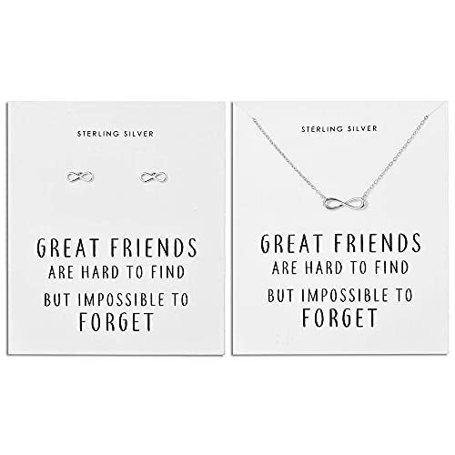 Philip Jones Sterling Silver Infinity Friendship Quote Set on Quote C
