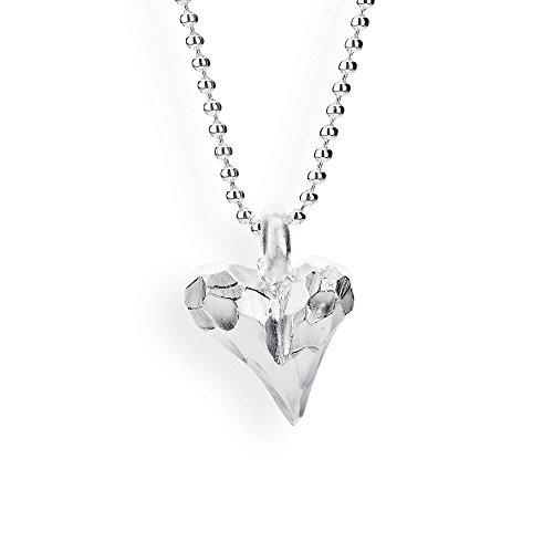 Drachenfels Mini Herz Anhänger in Echtsilber   Kollektion Heartbreaker   Romantischer Anhänger für Damen in Herzform   D BHE 31/AG