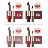 XCBCVHG 2 en 1 Brillo de Labios Lipstick Mate, Liquido Brillo Labial Matte Larga Duracion Cosmético Make Up Maquillaje de Belleza Impermeable Plumper Buxom Lipstick Lip Gloss