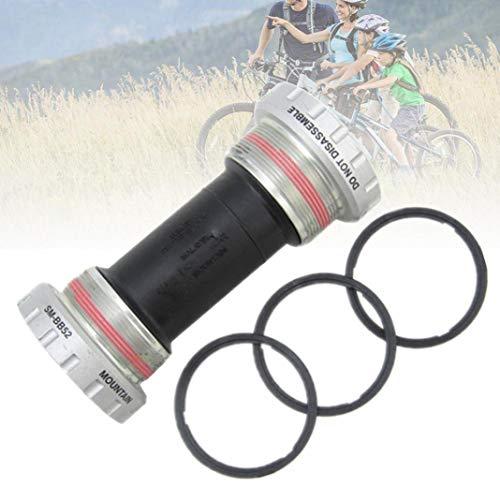YSHTAN Soporte inferior para bicicleta de montaña para Shimano Deore SM-BB52 Hollowtech II, soporte inferior de 68/73 mm