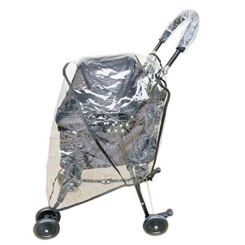 Dog Stroller Rain Wind Cover, Dog Cat Pet Travel Stroller Pushchair Pram Jogger Buggy Rain Cover
