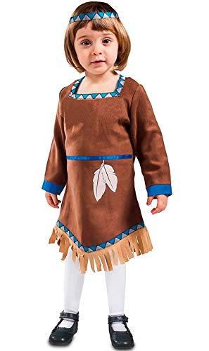 Disfraz de India Marrón con Flecos para bebé