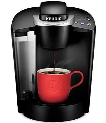 Keurig K-Classic Coffee Maker, Single Serve K-Cup Pod Coffee Brewer, 6 to 10 oz. Brew Sizes, Black (Renewed)